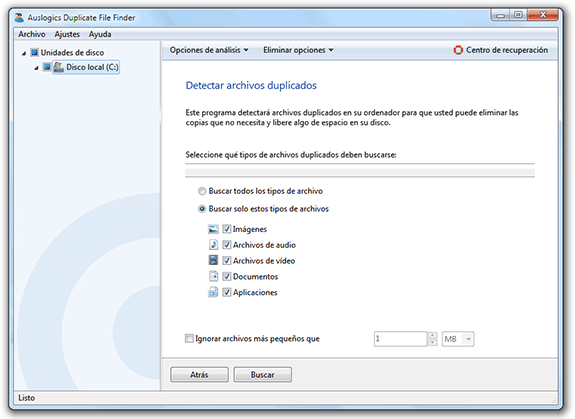 Eliminar ficheros o archivos duplicados: Auslogics Duplicate File Finder