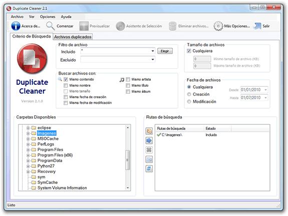 Eliminar ficheros o archivos duplicados: Duplicate Cleaner