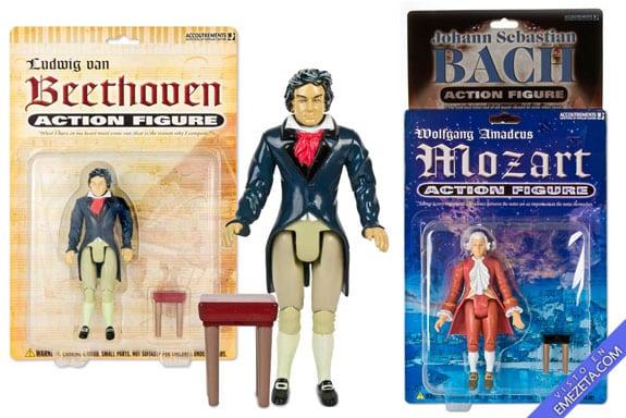 Figuras de acción: Beethoven, Mozart, Bach, Wagner