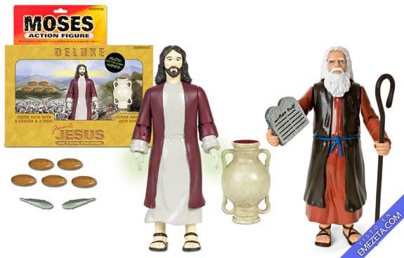 Figuras de acción: Jesús (Deluxe) y Moisés