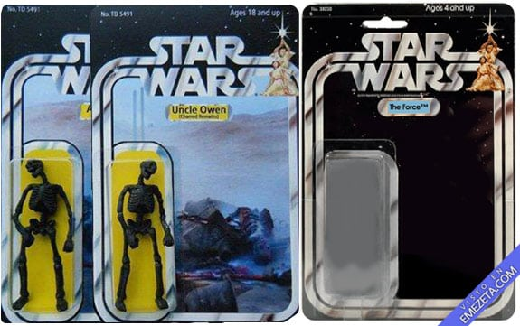 Figuras de acción: Starwars uncle owen aunt beru the force