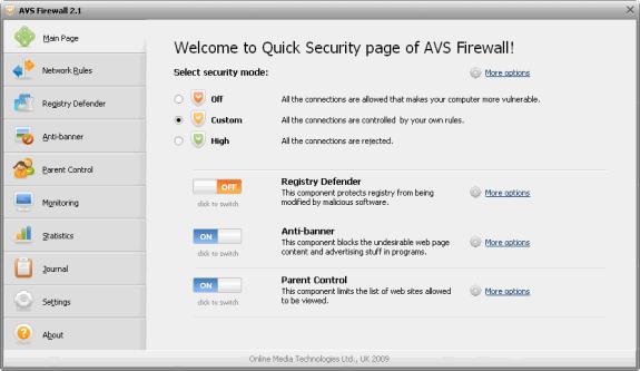 Firewalls o cortafuegos gratuitos: AVS Firewall