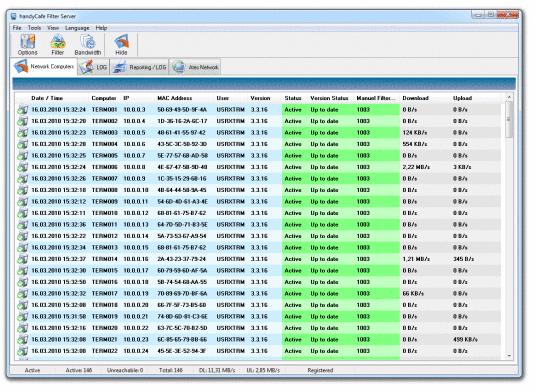Firewalls o cortafuegos gratuitos: HandyCafe Firewall