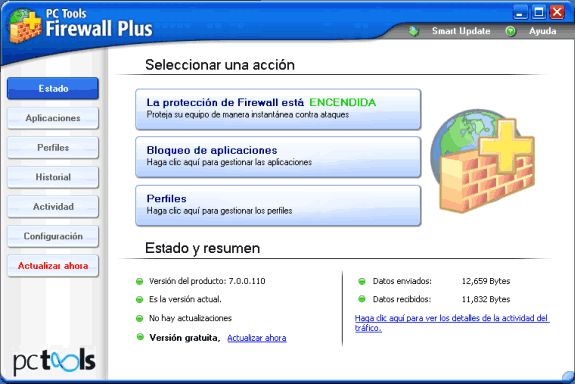 Firewalls o cortafuegos gratuitos: PC Tools Firewall Plus