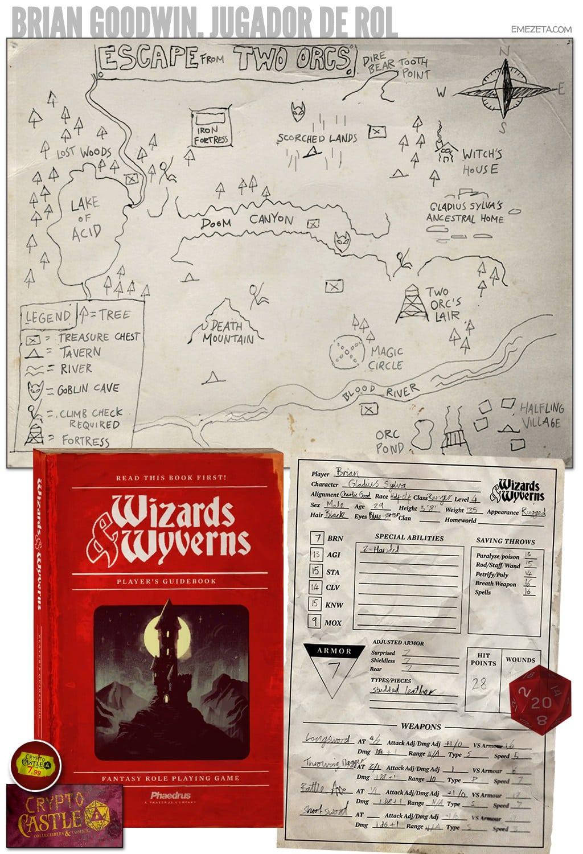 Brian Goodwin: Jugador de rol Wizards & Wyverns