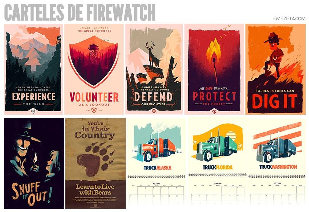 Carteles de Firewatch