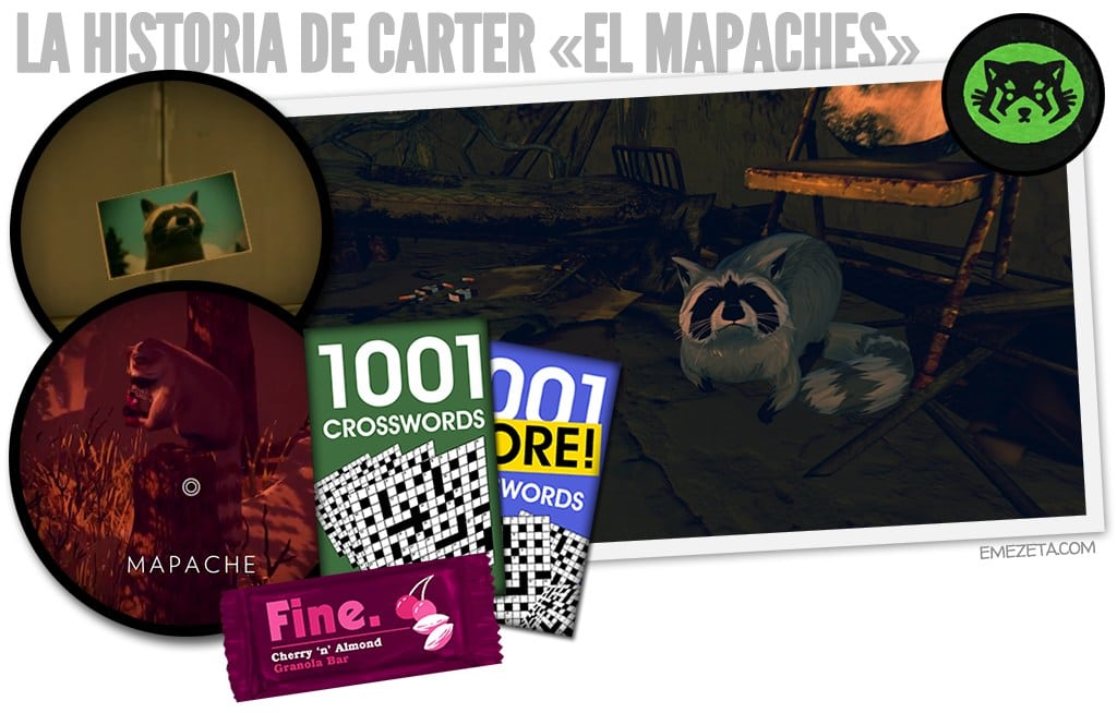 Firewatch: Carter el mapaches