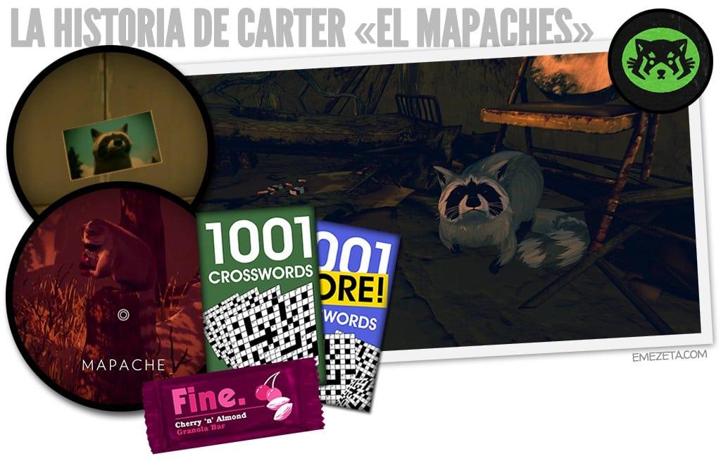 Firewatch: Carter el mapaches