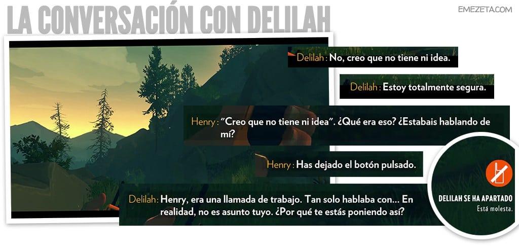 La extraña conversación de Delilah