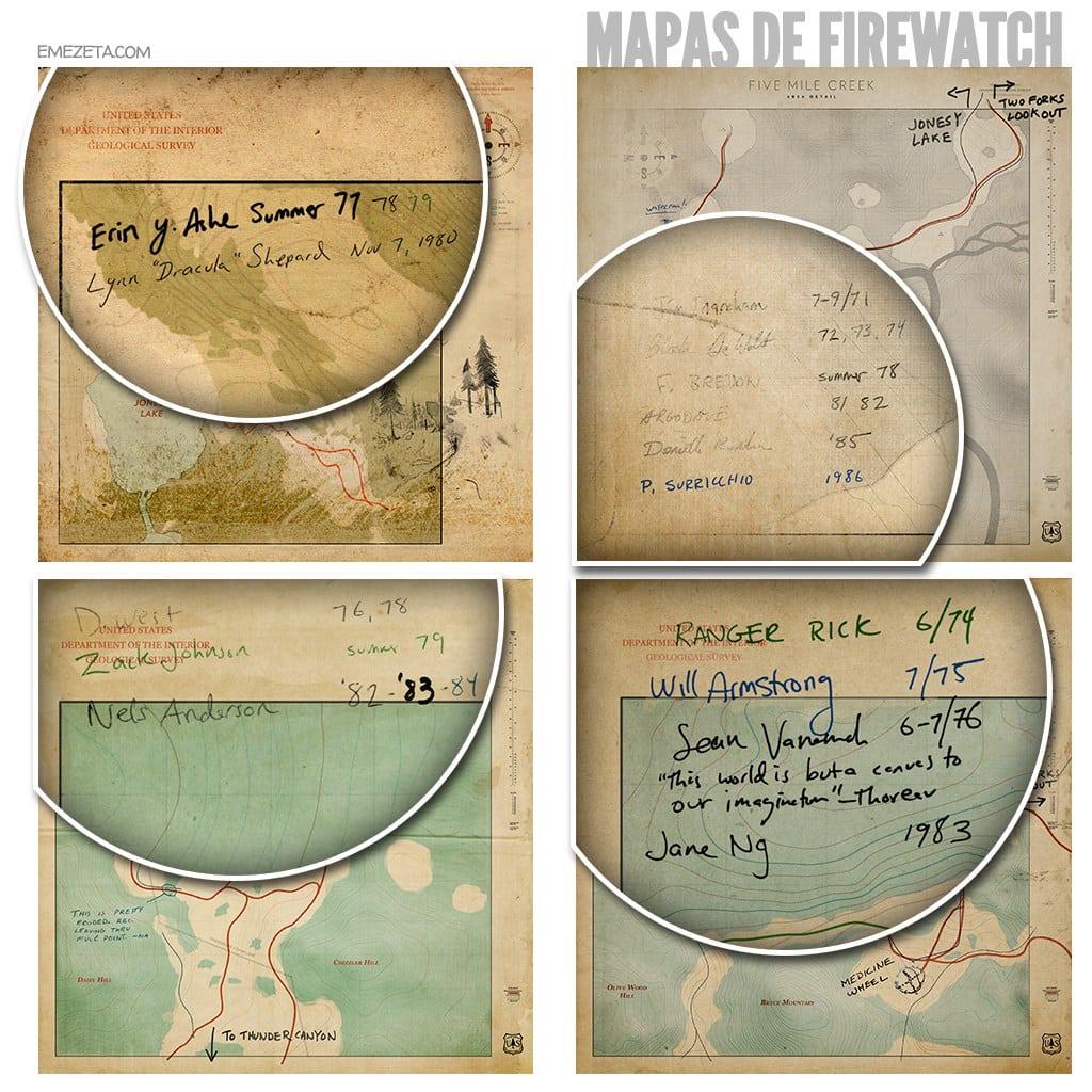 Mapa de Firewatch
