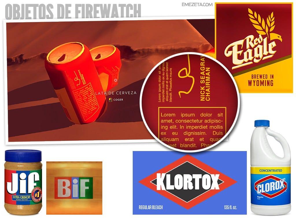 Objetos de Firewatch