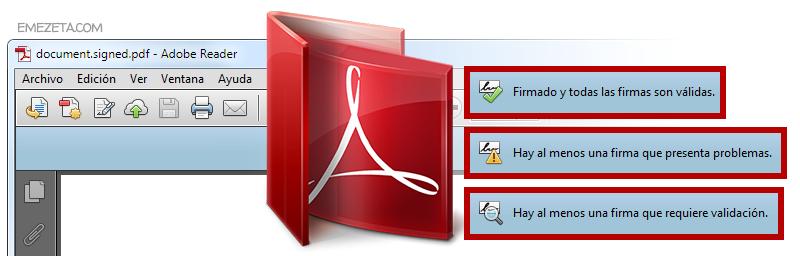 Configurar Adobe Reader para validar o verificar firmas de certificados digitales en archivos PDF