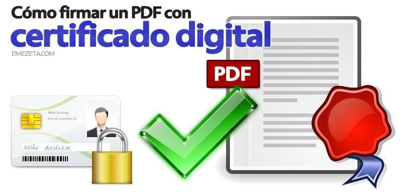 Programas gratis para firmar PDF (con certificado digital)