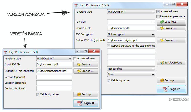 Programas gratis para firmar PDF: JSignPDF (Basic and advanced)