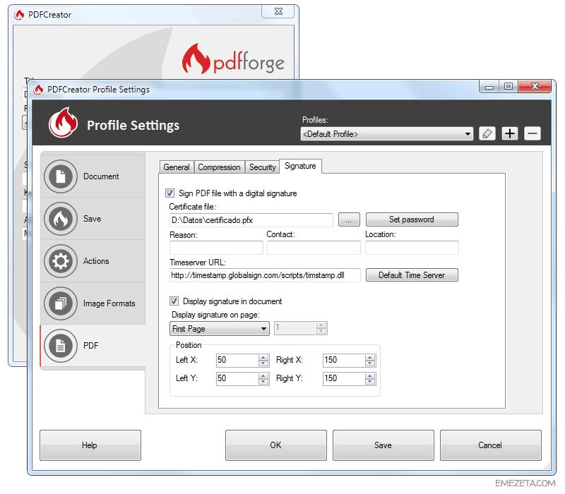 Programas gratis para firmar PDF: Impresora virtual PDF Creator