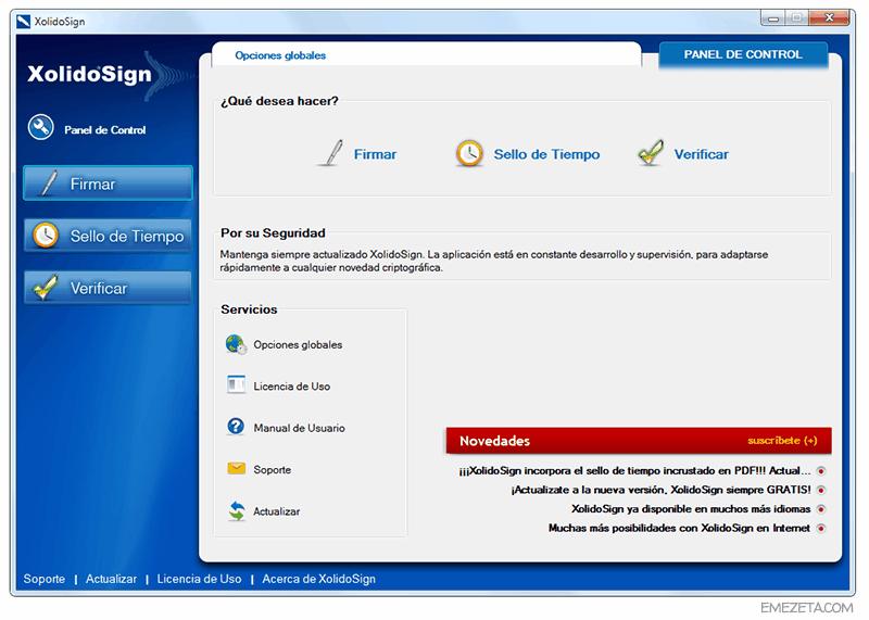 Programas gratis para firmar PDF: Xolido Sign