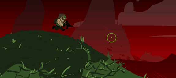 run n gun flash juego game