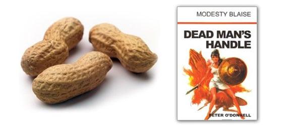 cacahuetes arachibutirofobia dead man handle modesty blaise