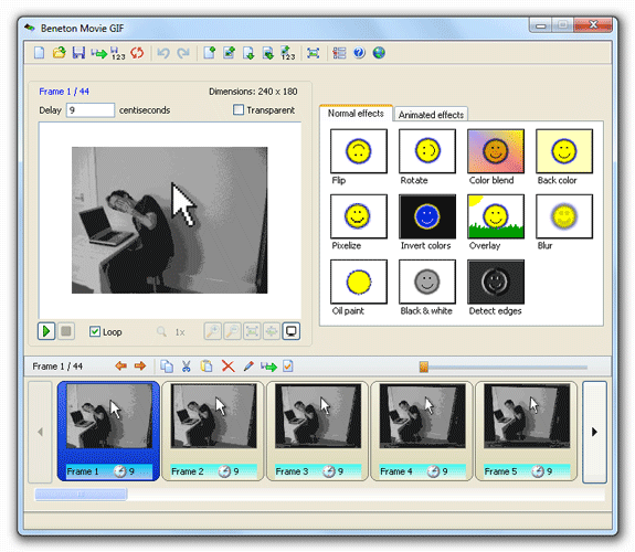Beneton Movie GIF: Edita o crea GIF animados de forma muy sencilla con este programa