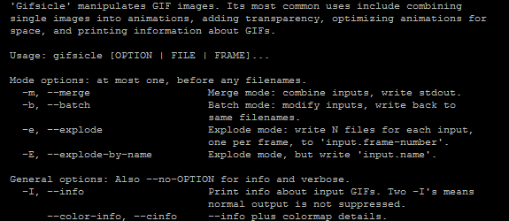 GIFsicle: Potentísimo editor en línea de comandos de GIF animados