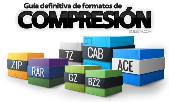 Guía definitiva de compresores y formatos de compresión