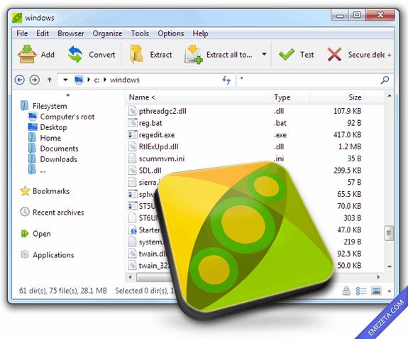Peazip, compresor gratuito de código abierto que soporta muchos formatos
