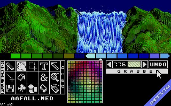 NeoChrome, antiguo editor gráfico para Atari ST que permite utilizar la técnica color cycling.