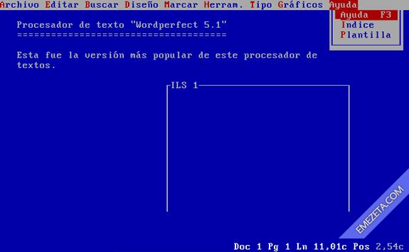 Word Perfect 5.1: Procesador de textos para MSDOS