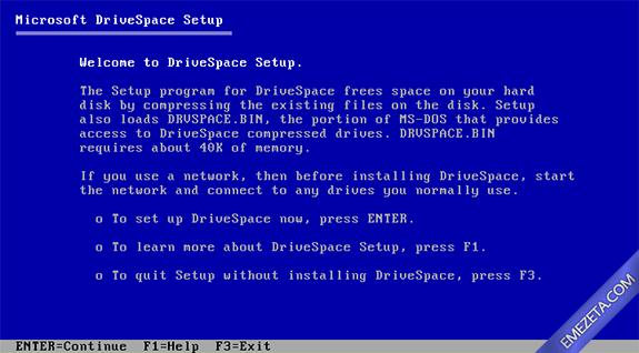 Formatos antiguos: DoubleSpace (También llamado DriveSpace)