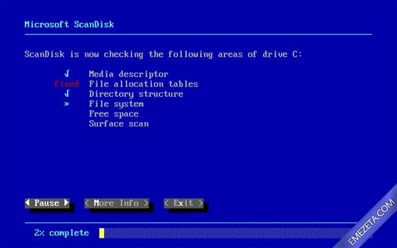 Formatos antiguos: ScanDisk (Chkdsk)
