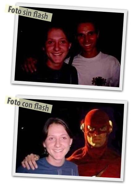 foto sin flash foto con flash