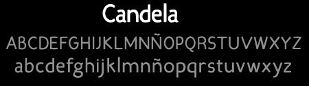 tipografía Candela