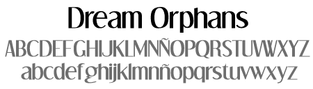 tipografía Dream Orphans