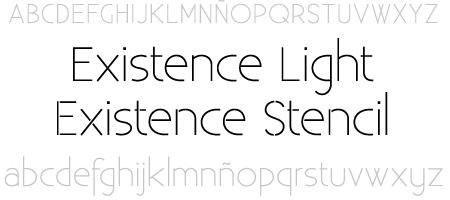 tipografía existence