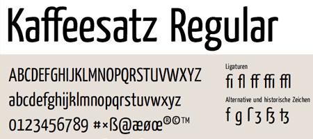 tipografía Yanone Kaffeesatz