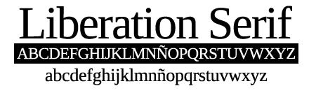 tipografía liberation serif