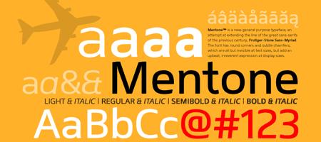 tipografía Mentone