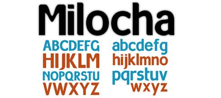 tipografía milocha