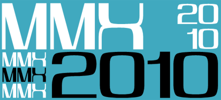 tipografía MMX2010