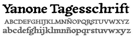 tipografía tagesschrift
