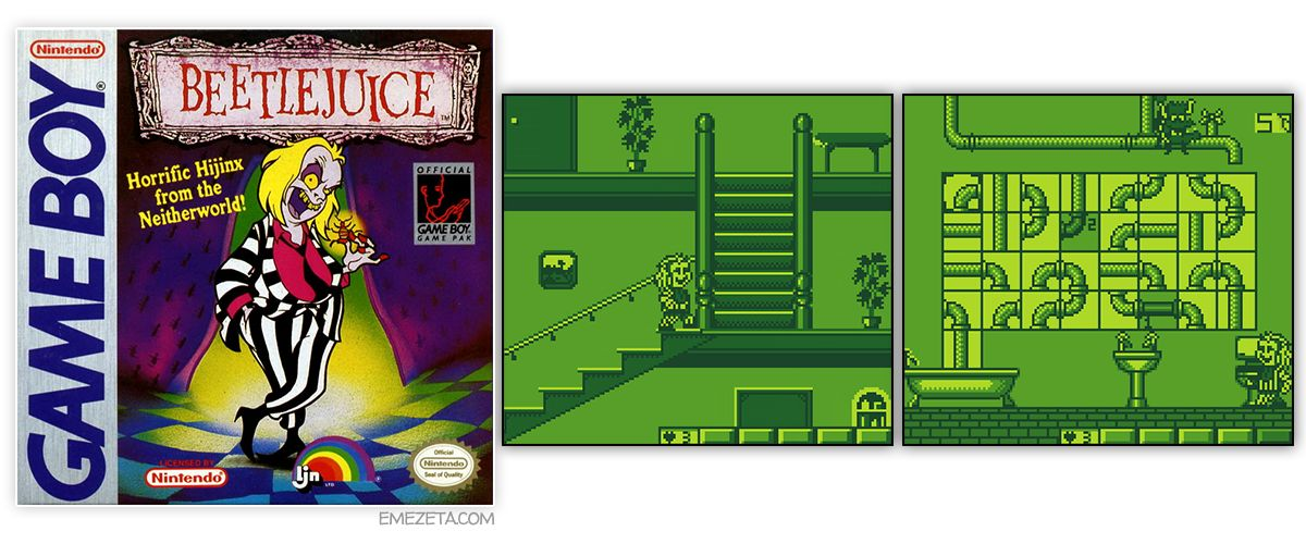 Juego Beetlejuice Horrific Hijinx from the Neitherworld! para GameBoy