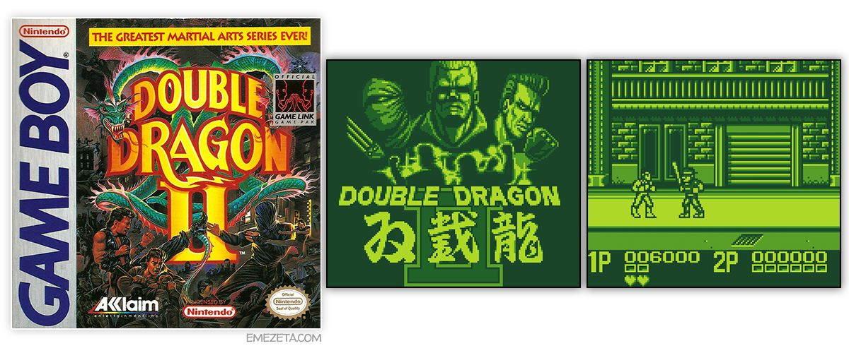Juego Double Dragon II para GameBoy