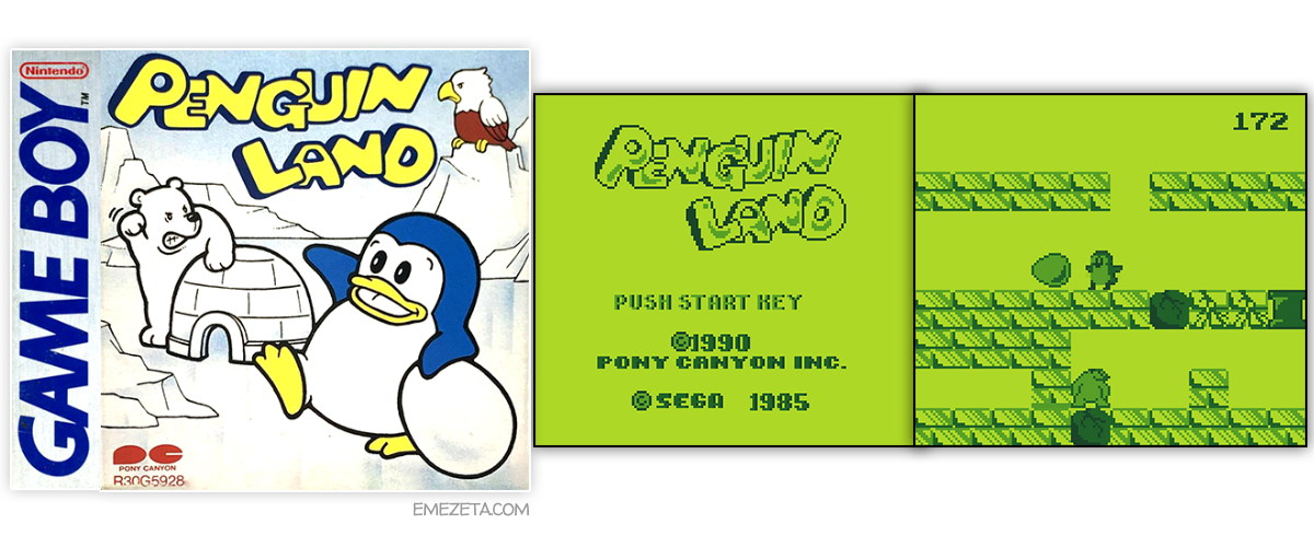 Juego Penguin Land port para GameBoy