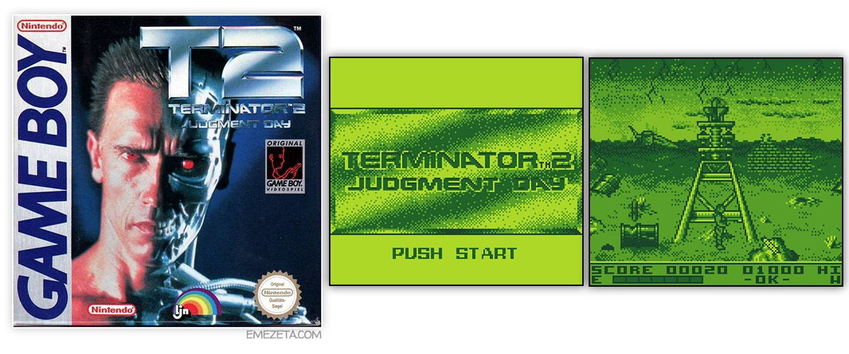 Juego Terminator 2: The Judgment Day para GameBoy