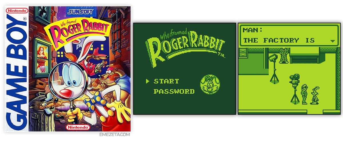 Juego Who framed Roger Rabbit para GameBoy