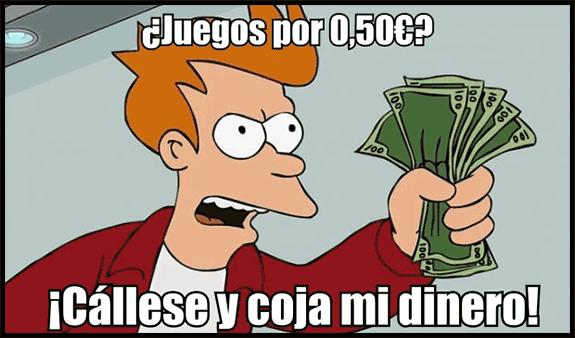 Meme: Cállese y coja mi dinero
