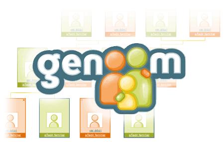 genoom logo arbol genealogico