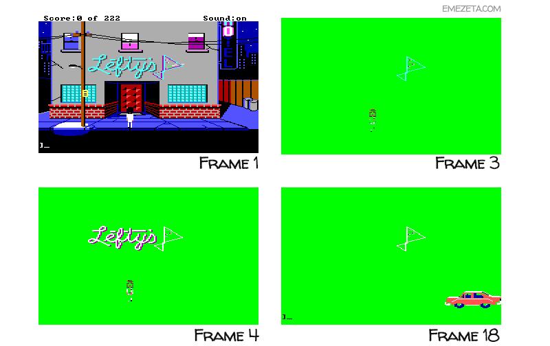 Frames o fotogramas de un GIF animado