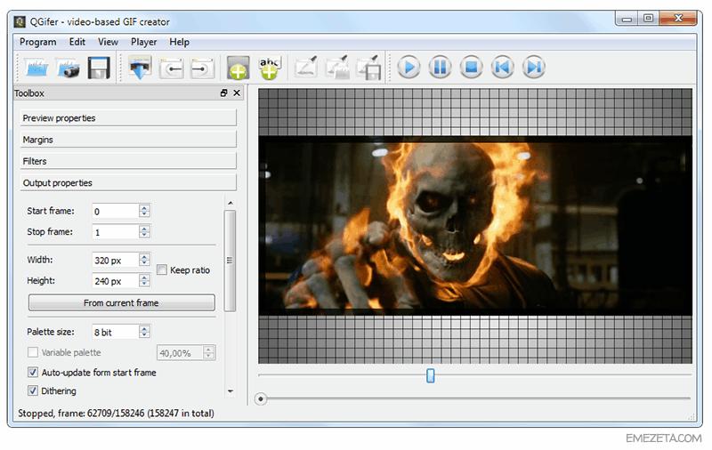 QGifer: Convierte videos AVI/MP4/MKV en GIF