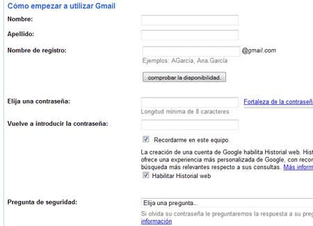 gmail crear correo paso 1